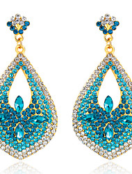 Drop Earrings Sapphire Crystal Simulated Diamond Drop Blue Jewelry Wedding Party Daily 1 pair