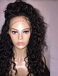 Glueless Lace Front Wigs 100%  Brazlian Remy Human Hair deep curly Lace Wigs