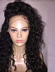 rendas frente glueless perucas 100% Remy brazlian cabelo humano profundas perucas encaracoladas