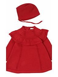 Robe Fille de Sortie Décontracté / Quotidien Soirée / Cocktail Couleur Pleine Coton Toutes les Saisons Manches longues