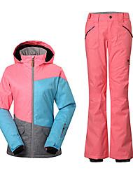 Wandern Ski/Snowboard Jacken Damen Wasserdicht warm halten Windundurchlässig Reißverschluß vorne Frühling Herbst Winter Polyester XS S