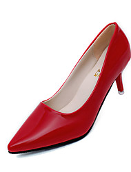 Для женщин Обувь на каблуках С Т-образной перепонкой Лакированная кожа Весна Повседневные Для прогулок С Т-образной перепонкойС