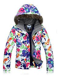 Femme Veste pour Femme Veste d'Hiver Anorak pour Ski/snowboard Hauts/Tops Ski Camping / Randonnée Sports de neige Ski alpin Snowboard