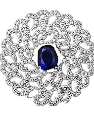 Women's Brooches Gemstone Blue Jewelry Casual