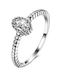 Alliances Mariage Soirée Bijoux Argent sterling Femme Bague 1pc,5 6 7 8 Argent
