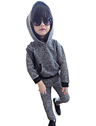 Boy's Cotton Fashion Spring/Fall Going out Casual/Daily Long Sleeve Hoodie Shirt & Pants Two-piece Set Sport Suit