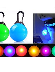 Pet Dog Cat Puppy Fascinating LED Night Safety Flashing Collar Light Push Button Switch 1Pc 8Color