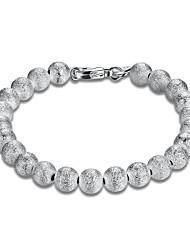 Women's Chain Bracelet Copper Silver Plated Fashion Jewelry 1pc