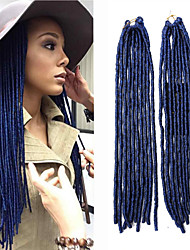 Faux Locs  MT1B/BLUE Synthetic Hair Crochet Braids 18inch 90g Kanekalon