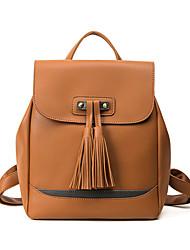 Casual Backpack Women PU Green Brown Black