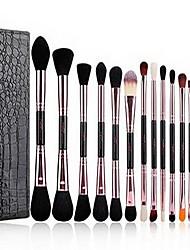 14 Makeup Brushes Set Blush Brush Eyeshadow Brush Synthetic Hair Professional Full Coverage Wood Face Eye