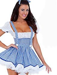 Costumes de Cosplay Costume de Soirée Bal Masqué Tenus de Servante Fête d'Octobre/Bière Cosplay Serveur / Serveuse Cosplay de Film Bleu
