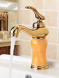 Basin Faucets Gold Finish Single Lever Basin Faucet Deck Mount Bathroom Sink Mixer Tap faucet for bathroom