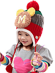 Girl's Cute Winter Going out/Casual/Daily Knitting Keep Warm Mickey Rainbow Patchwork Headgear Baby Hat Children Cap