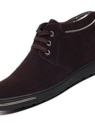 Men's Boots Fall Winter Other Leatherette Outdoor Casual Black Blue Dark Brown Light Grey Other
