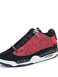 Men's Athletic Shoes Fall Winter Other Other Animal Skin Outdoor Low Heel Lace-up Black Blue Red Walking