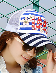 2017 Spring And Summer Women 'S Hat Baseball Cap Fashion New Copper Nails Flowers TAKE Letter Net Cap