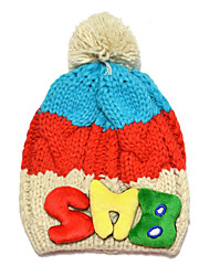 Boy's Fashion Winter Going out/Casual/Daily Knitting Keep Warm Letter Patchwork Headgear Baby Cap Children's Hat