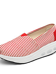 Women's Loafers & Slip-Ons Spring Summer Fall Winter Canvas Outdoor Casual Athletic Wedge HeelLight Grey Red Blushing Pink Navy Light