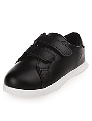 Girl's Athletic Shoes Spring Fall Winter Comfort PU Casual Low Heel Magic Tape Black White Other