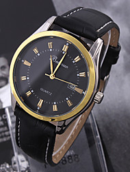 The New Man Contracted Gold Ring Business Neutral Calendar Quartz Watch