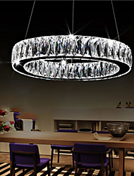 Crystal LED Pendant Lights Lighting Modern Single Rings D70CM K9 Large Crystal Indoor Ceiling Light Fixtures