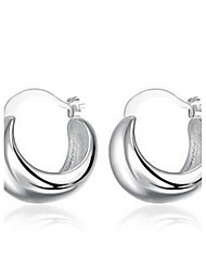 Round 925 Silver Earrings.