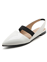 Women's Flats Spring Summer Fall Other Patent Leather Office & Career Casual Party & Evening Flat Heel Black Red White