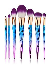 7 pincel para contorno Conjuntos de pincel Pincel para Blush Pincel para Sombra Pincel para Lábios Pincel para Corretivo Pincel para Base