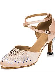 Damen-High Heels-Kleid-Satin-Stöckelabsatz-Andere-Schwarz Rot Champagner Rosenrosa