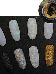 Holographic Glitter Powder Shining Sugar Glitter Dust Powder Manicure Nail Art Decoration