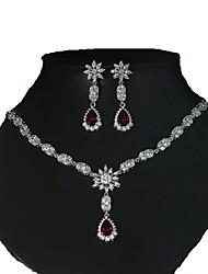 Бижутерия 1 ожерелье 1 пара сережек Halloween Повседневные Циркон Медь 1 комплект Женский Серебряный Свадебные подарки