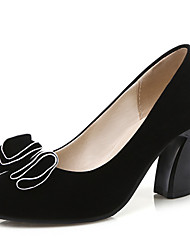 Women's Shoes Chunky Heel Round toe Bowknot Slip On Pump More Color Available