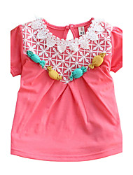 Girl's Cotton Fashion Spring/Fall Going out/Casual/Daily Sweet Candy Embroidery T-shirt Children Tee