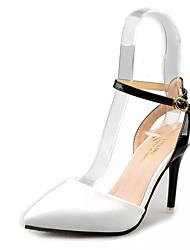 Damen-High Heels-Outddor-PU-Stöckelabsatz-Komfort-Schwarz Blau Rosa Weiß
