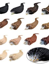 16-24Inch Micro Loop Ring Hair Extensions 100strands/pack Free Shipping Virgin Human Hair Loop Hair