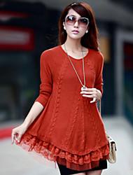 Women's Casual/Cute Inelastic Medium Long Sleeve Pullover (Knitwear)SF7E15