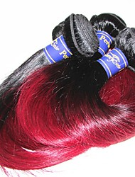 10a peruvian virgin human hair weaves silk straight mixed length 3pieces 300g lot sale for one head color1b/99j