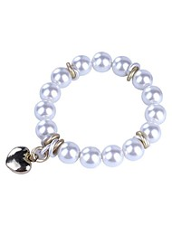 Women's Chain Bracelet Pearl Imitation Pearl Imitation Pearl White Gray Jewelry 1pc
