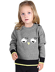 Unisex Going out Casual/Daily Sports Color Block Animal Print Embroidered Sweater & Cardigan,Cotton Winter Spring Long Sleeve Regular