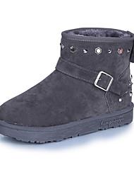 Women's Boots Fall Winter Comfort Suede Office & Career Dress Casual Low Heel Black Gray