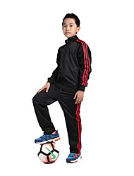 Kid's Long Sleeve Soccer Clothing Sets/Suits Breathable Comfortable Red Black Football/Soccer