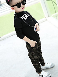Boy Casual/Daily Sports School Color Block Pants-Rayon Spring Fall