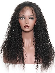 Unprocessed 8-24 Inch 120% Density Virgin Malaysian Natural Color Curly  Lace Front Wig Human Hair Lace Front Wigs