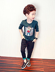 Boy Casual/Daily Sports School Solid Print Tee,Cotton Spring Long Sleeve