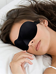 1 Pcs Hot Sale 3D Portable Soft Travel Sleep Rest Aid Eye Mask Cover Eye Patch Sleeping Mask Case Color random
