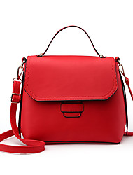 M.Plus Women's Fashion PU Leather Messenger Shoulder Bag/Handbag Tote
