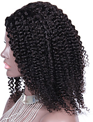 Kinky Curly Right Part U Part Wigs Brazilian Human Hair Upart Wig 180% Density Natural Black 1*4Inch Side Parting Wigs