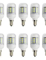 4W E14 Small Screw Base LED Corn Bulb DC/AC 12V-24V 27 SMD 5730 Warm / Cool White (10 Pieces)