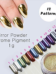 1g Mirror Powder Gold Sliver Chrome Pigment Powder Aluminium Powder Chrome Pigment Nail Glitters Nail Polish Sequins Vtirka